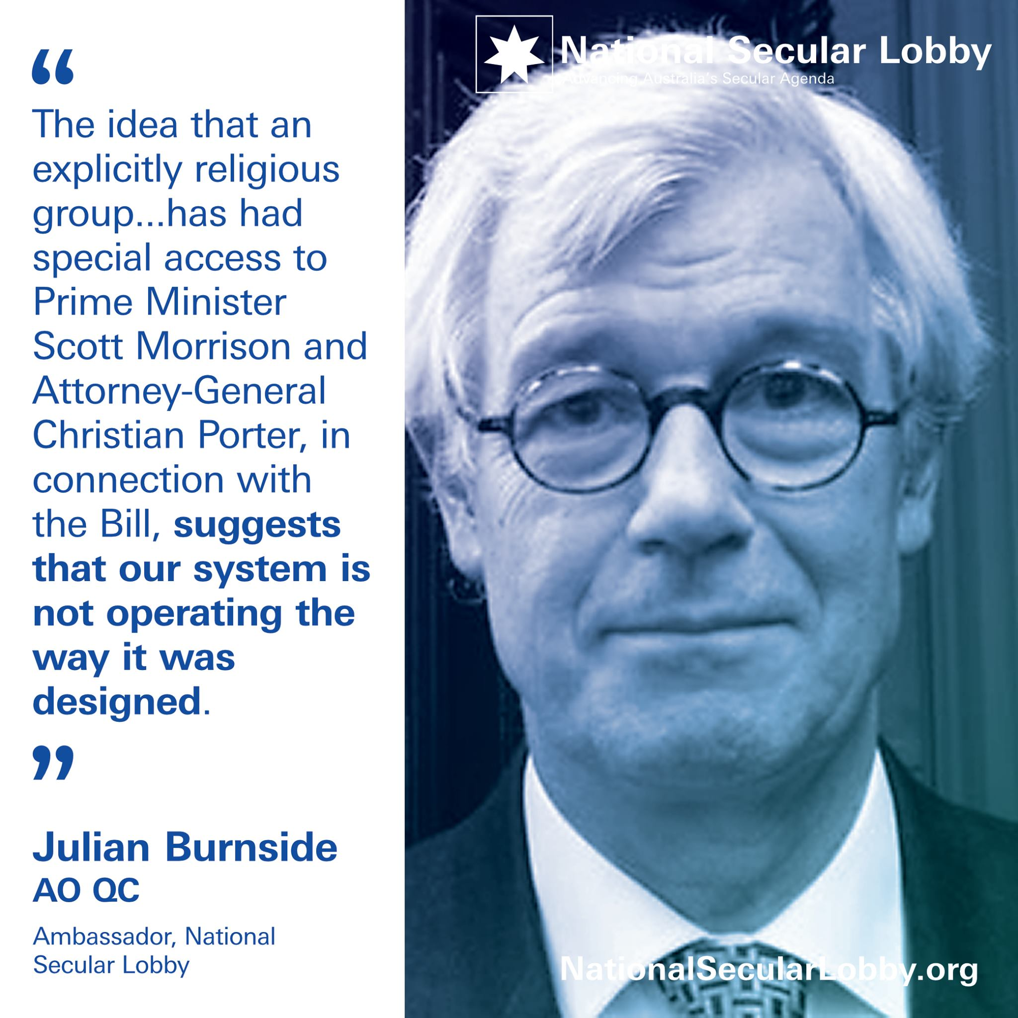 Julian Burnside: Separation of church and state