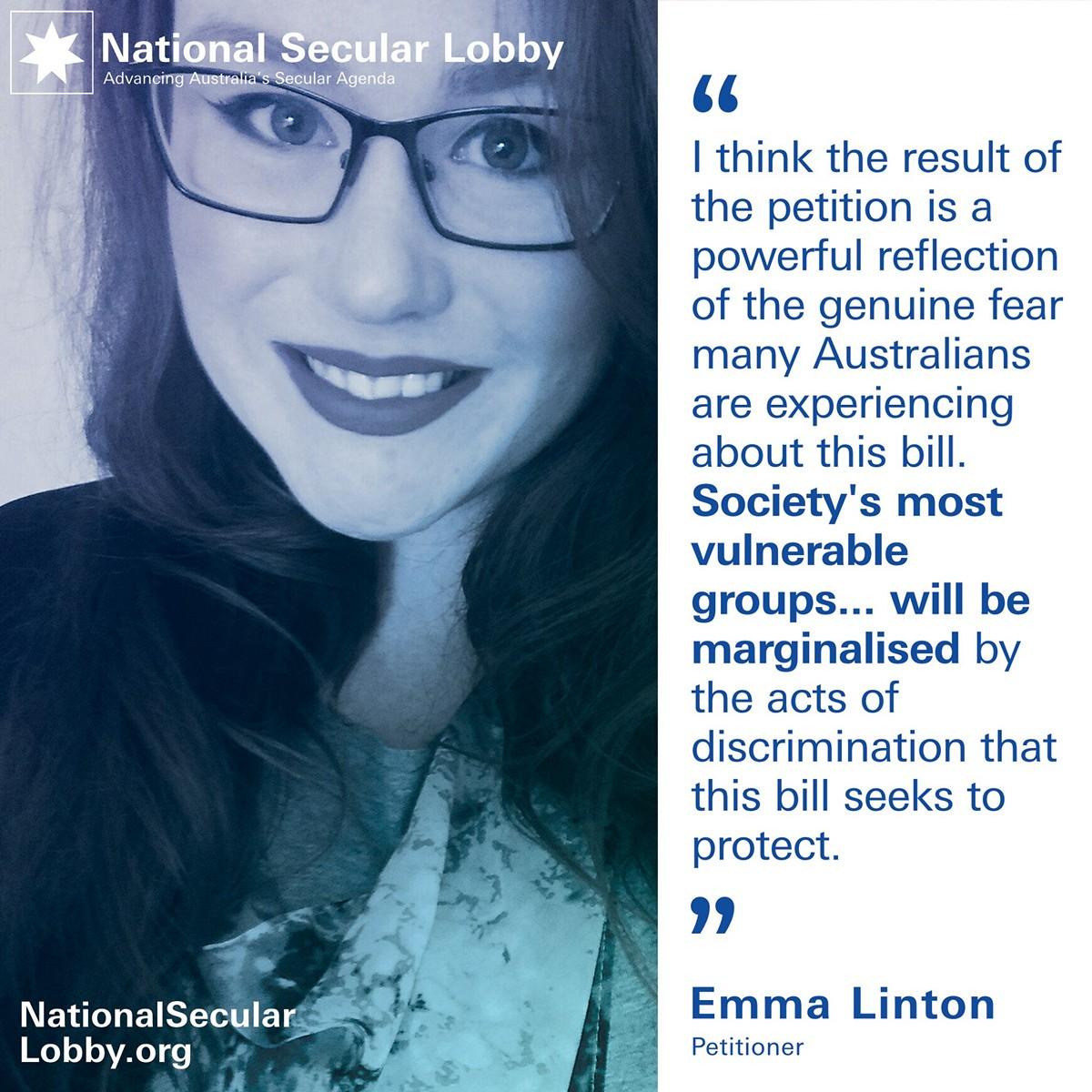 Emma Linton's RDB Petition