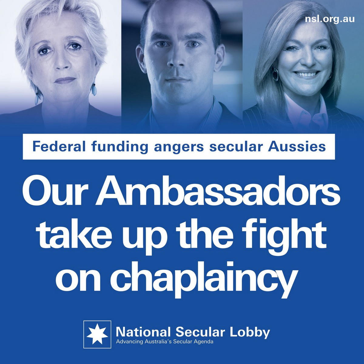 Our ambassadors take up the fight on chaplaincy