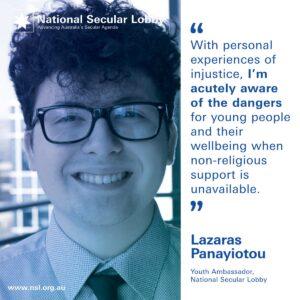 NSL Youth Ambassador Lazaras Panayiotou