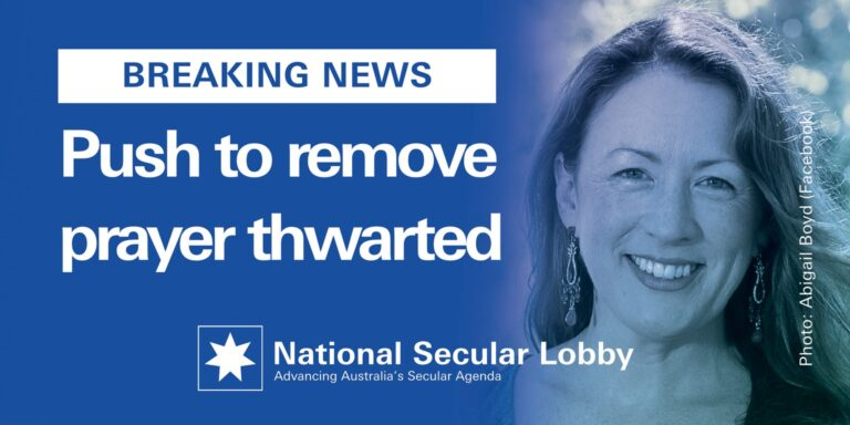 Abigail Boyd MLC in NSW prayer push