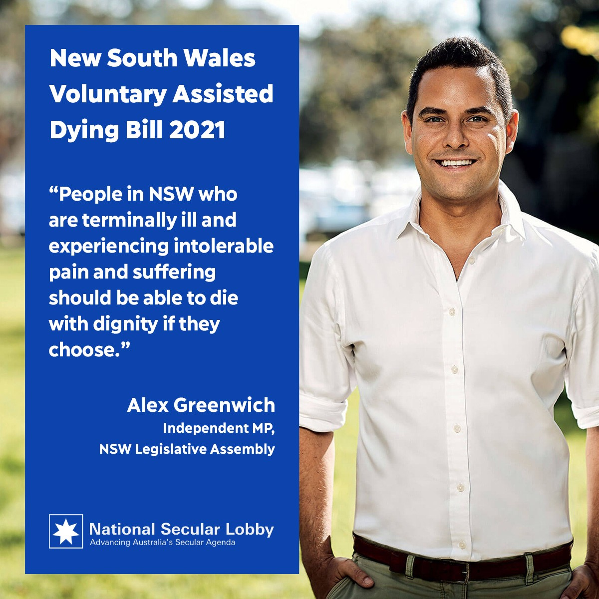 Alex greenwich on the NSW Voluntary Assisted Dying Bill 2021