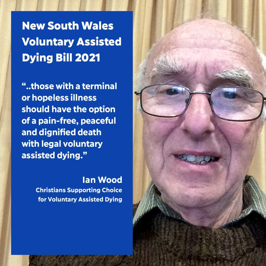 Ian Wood of Christians Supporting Choice for Voluntary Assisted Dying